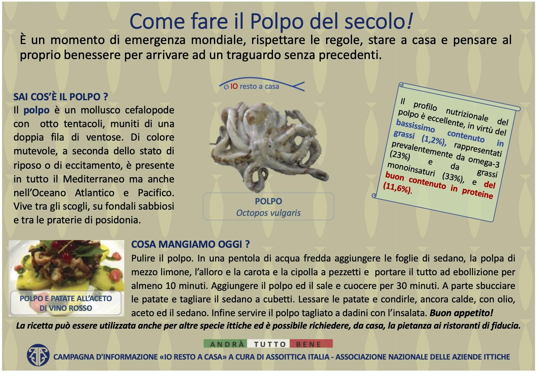 12 Campagna Assoittica per Coronavirus Polpo