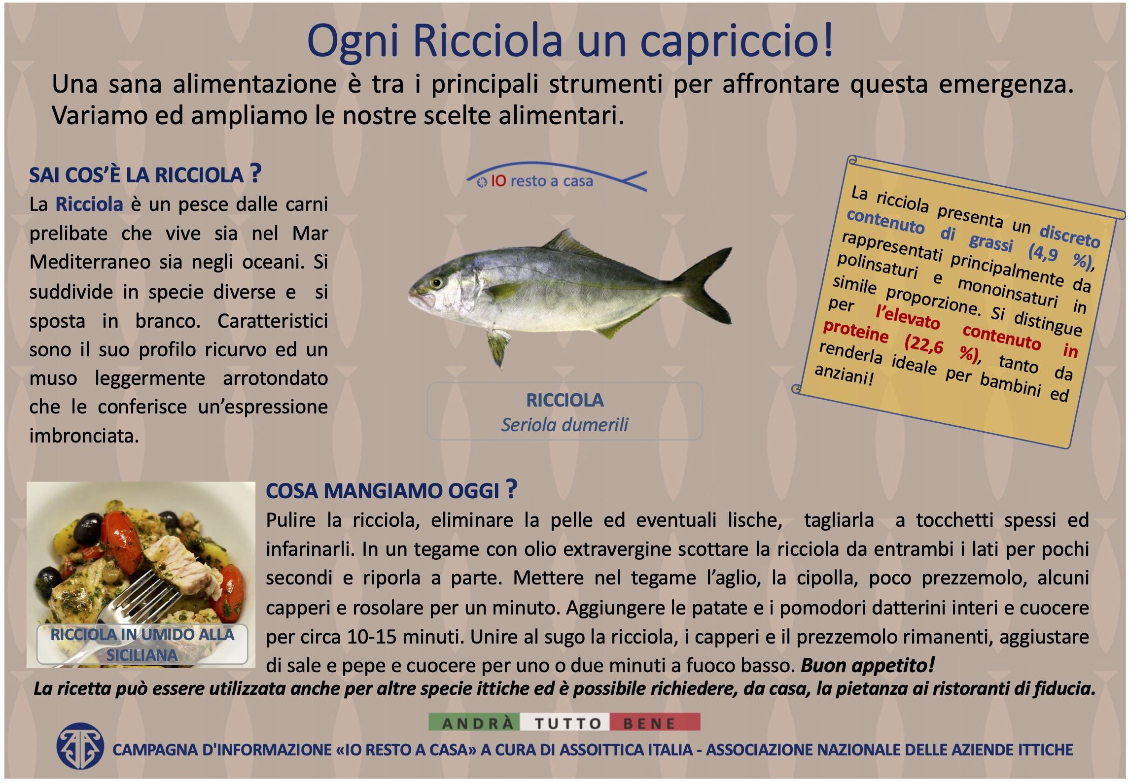 19 Campagna Assoittica per Coronavirus Ricciola