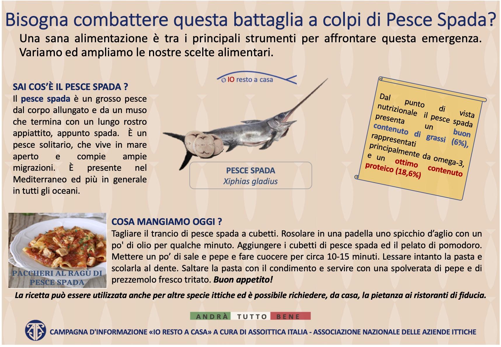 9 Campagna Assoittica per Coronavirus Pesce Spada